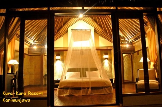 desain kamar villa kura kura resort karimunjawa