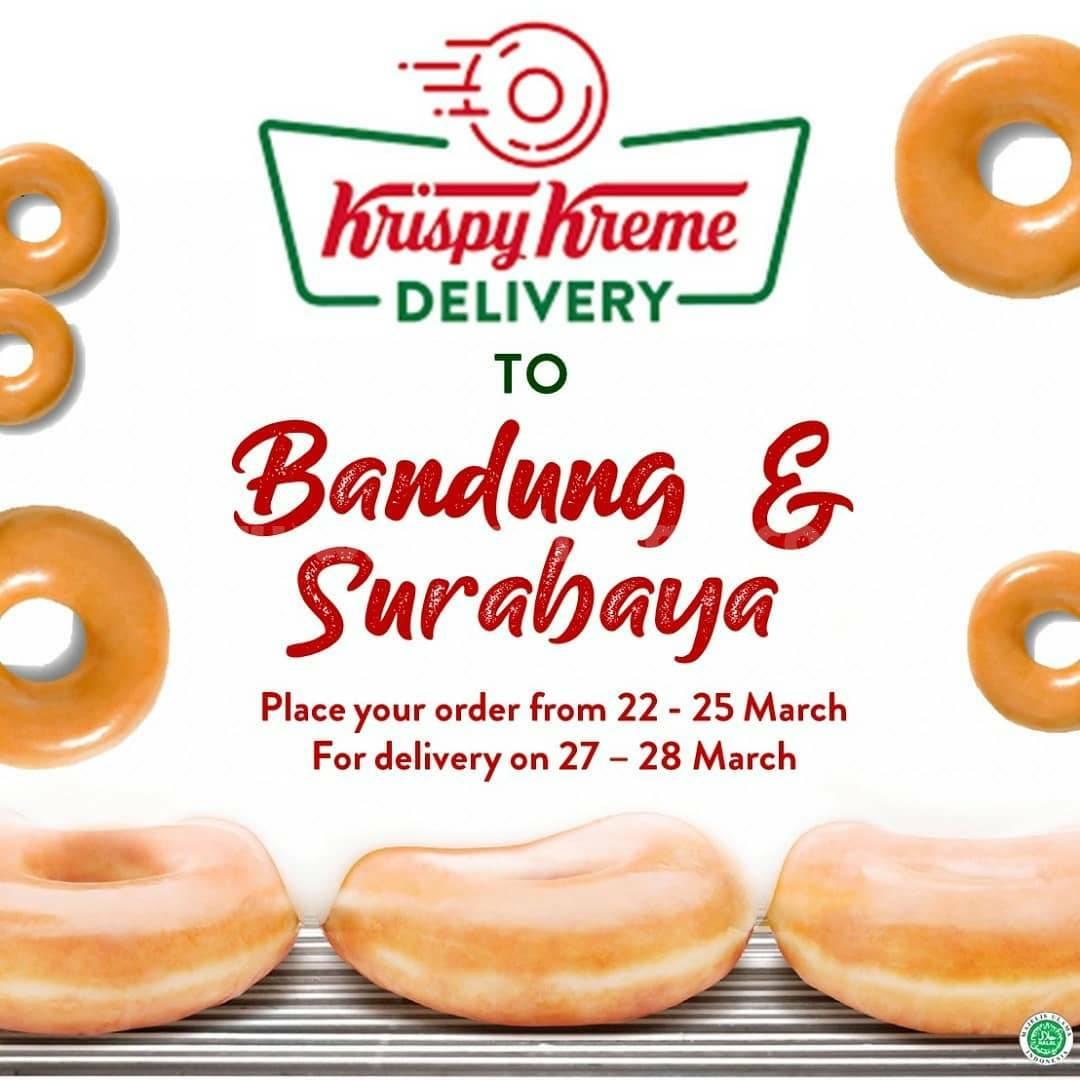 Promo Krispy Kreme OPEN PRE-ORDER for Bandung & Surabaya