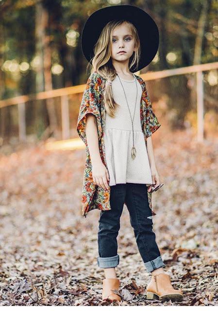 #kimono #modaniña #pequeñafashionista #BohemianBabies #kidstreetstyle