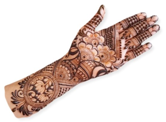 Full Hand Mehndi Design Free Download