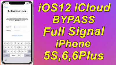 iOS12 iCloud Bypass With Signal [iPhone 5S,6,6Plus] iOS12.5.4 iCloud iD Bypass