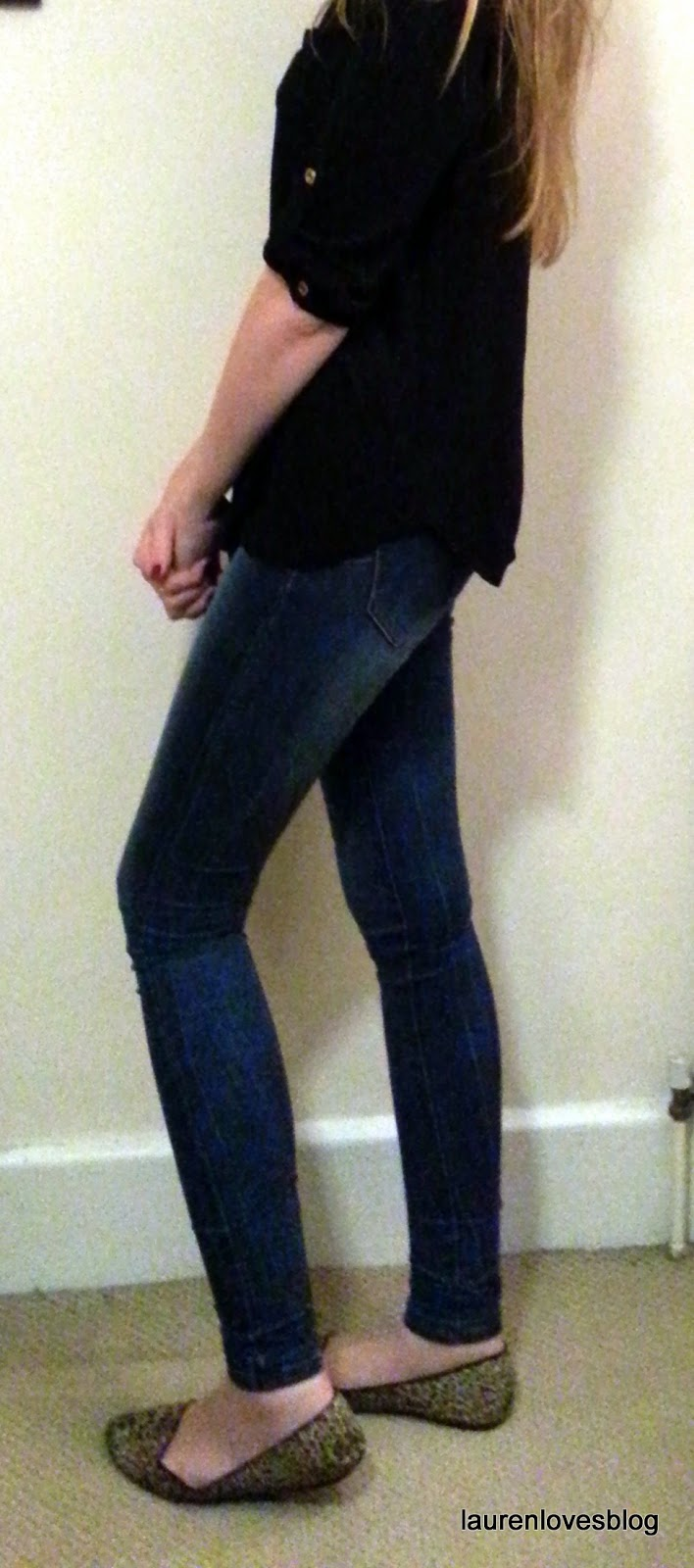 943b07939cde5 I tried out the 34inch mid blue super skinny shapers jeans - a bargain at  £22.99. As you can see they are super-tight and really suck you in  but  they have ...