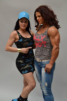 Female bodybuilding fitness model Transformation