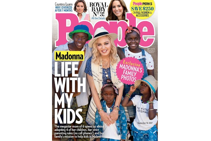 Madonna Opens up about Emotional Adoption Journey as she covers People Magazine with 4 out of 6 Kids