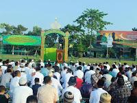 Yonif Mekanis Raider 413 Divif 2 Kostrad Bersama Masyarakat Laksanakan Sholat Idul Fitri 1440 H/2019 M