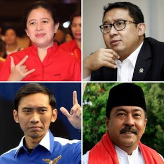 Puan, HNW, Rano Karno, Ibas, Fadli Zon, Peraih Suara Terbanyak DPR RI se-Indonesia