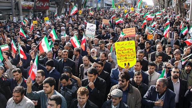 Millones de iraníes se movilizan y corean contra EEUU e Israel