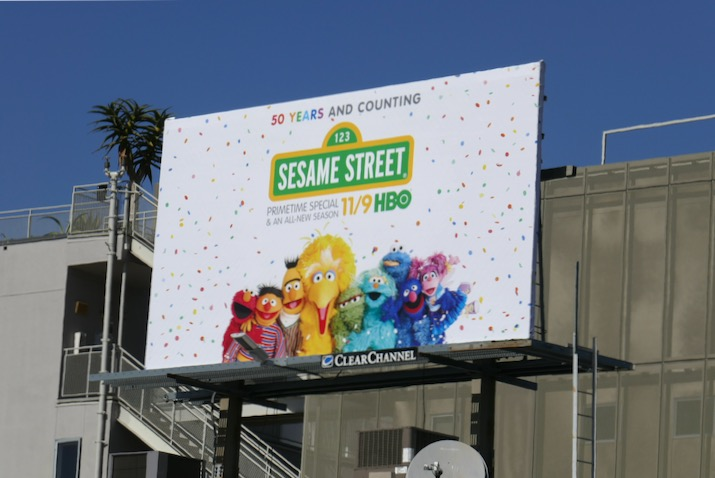 Sesame Street season 50 billboard