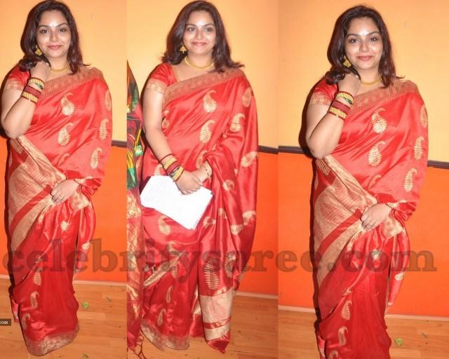 31e43a6de207e Serial Actress Raw Silk Saree - Saree Blouse Patterns