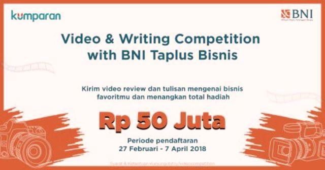 Lomba Vlog BNI dan Kumparan Total Hadiah Rp.50 Juta