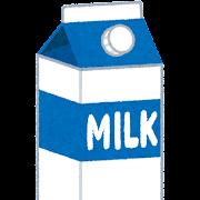 キャップ付きの牛乳パックのイラスト