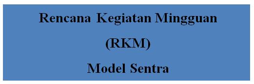 Contoh Rencana Kegiatan Mingguan (RKM) Model Sentra