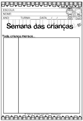 Atividades com frases, Dia das crianças, para imprimir, Ensino fundamental, Frases, Interativa , atividades de escrita,