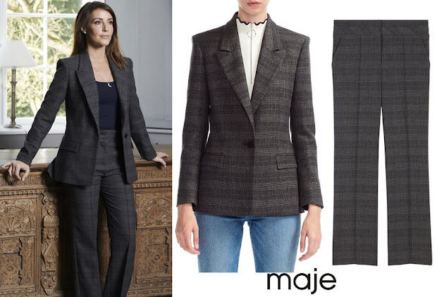 Princess Marie wore Maje Vanda Plaid Blazer and Trousers
