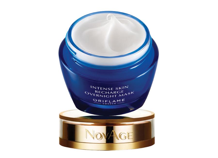 Máscara de Noite Intense Skin Recharge NovAge da Oriflame