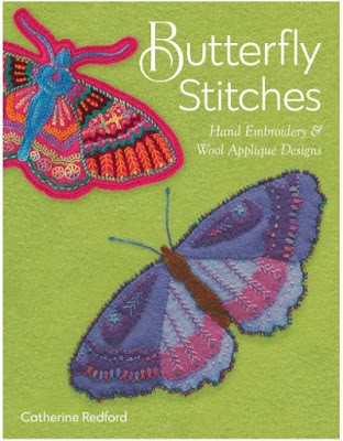 butterfly applique and embroidery stitches