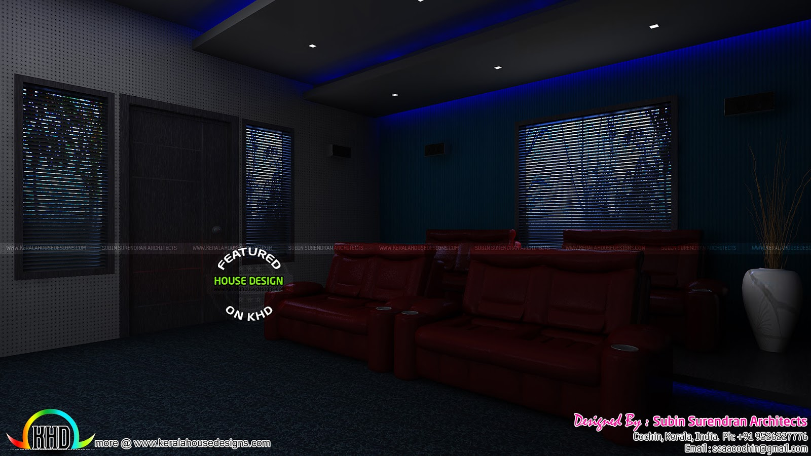 Master Bedrooms Dining Home Theater Interiors Kerala Home Design And Floo