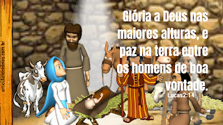 Gloria a Deus nas alturas e paz na terra aos homens de boa vontade