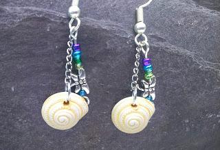 Shell & Dragonfly Earrings