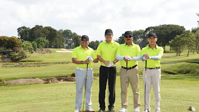 Panglima TNI Laksanakan Olahraga Golf Bersama Pangab Singapura