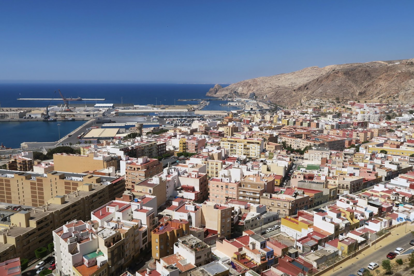 Taken from the top of Almeria Alcazaba looking down over the town