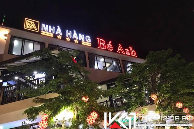 Lam bang hieu nha hang chuyen nghiep gia re o dau
