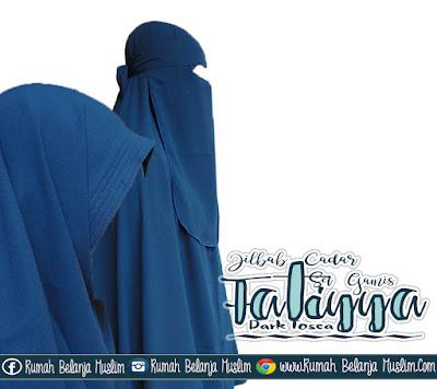 Jilbab Cadar Gamis Fatiyya Dark Tosca