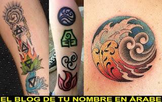 tatuajes de simbolos: Los cuatro elementos