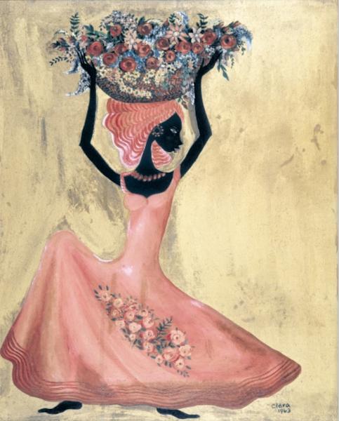 Negrita con canasta y flores, 1963