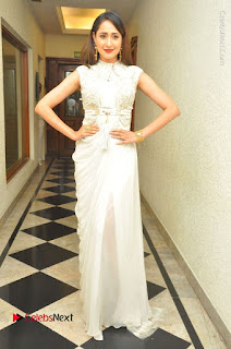 Actress Pragya Jaiswal Stills in Beautiful White Dress at turodu Audio Launch  0032.JPG
