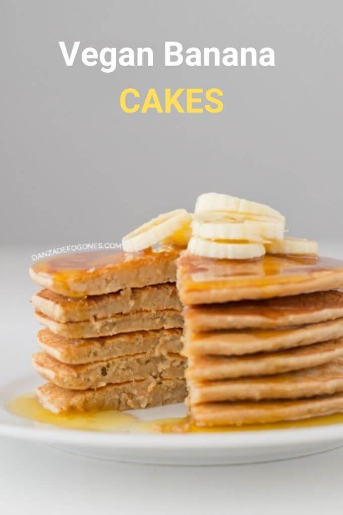 Vegan Banana Pancakes | danceofstoves.com #vegan
