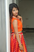Shubhangi Bant in Orange Lehenga Choli Stunning Beauty ~  Exclusive Celebrities Galleries 027.JPG