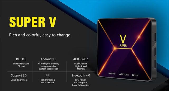 Super V a TV Box with RK3188, 4GB RAM and Android 9
