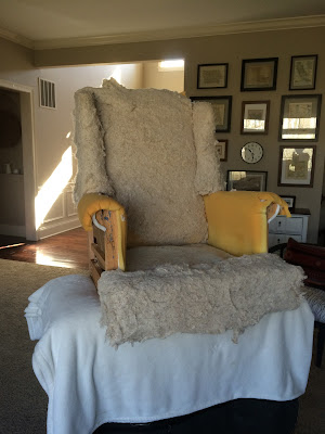 wingback chair makeover furniture upholstery