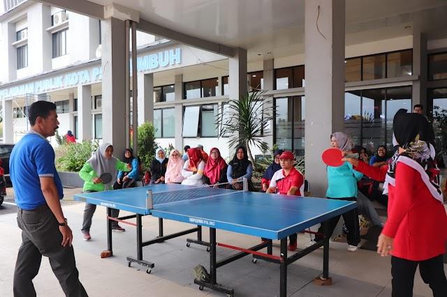 HUT KORPRI Di Payakumbuh, Peserta Tenis Meja Berlaga Di Depan Balaikota