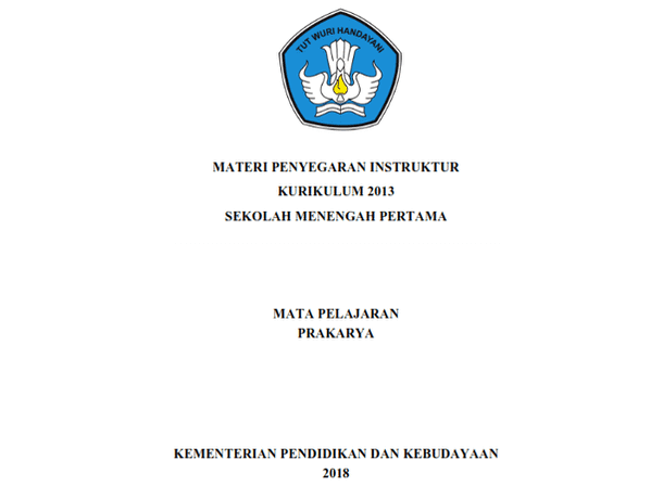 Modul Prakarya (Materi Bimbingan Teknis Penyegaran Instruktur Kurikulum 2013 SMP Tahun 2018)