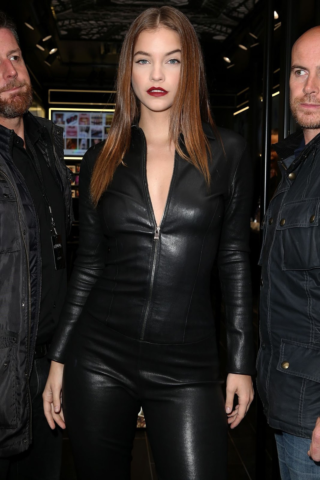 Barbara Palvin in Leather