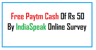 Free Paytm Cash Offer by online paid survey