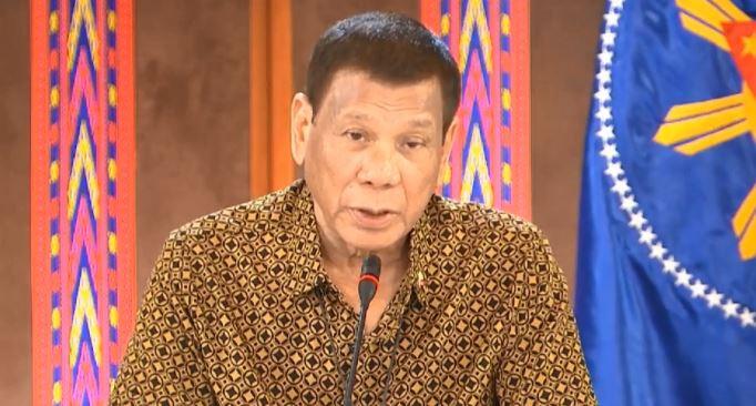 President Rodrigo Duterte's address to the nation on Monday, April 27.