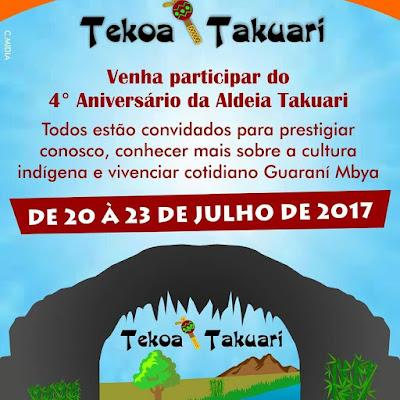 4° Aniversário da Aldeia Takuari em Eldorado-SP