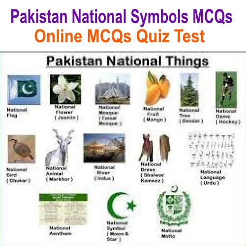 Pakistan National Symbols MCQs