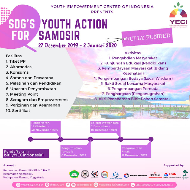 FULLY FUNDED: OPEN REGISTRATION VOLUNTEER DELEGATION SDGs YOUTH ACTION FOR SAMOSIR