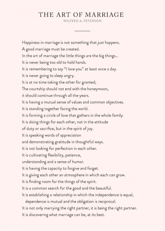 The Art of Marriage - Wilfred A. Peterson, Marriage, Thoughts On Marriage