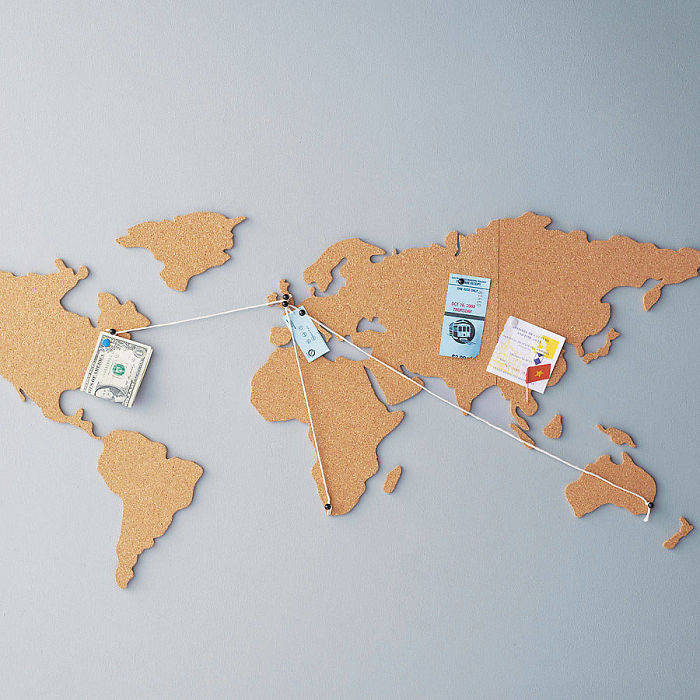 15+ Of The Best Traveler Gift Ideas Besides Actual Plane Tickets - Corkboard World Map
