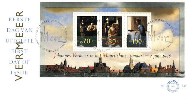 Netherlands 1996 Johannes Vermeer Exhibition FDC