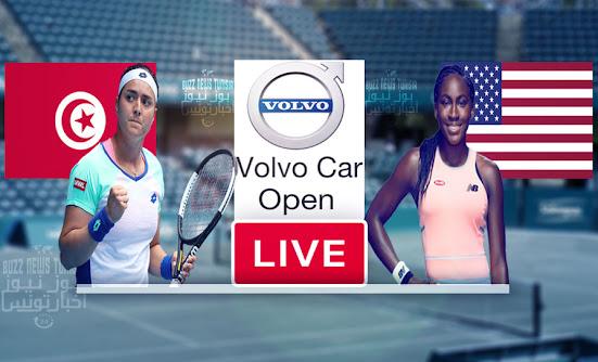 Watch Match Tennis Ons Jabeur vs Cori Gauff Live Stream WTA Volvo Car Open 2021