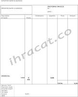 proforma invoice, order receipt