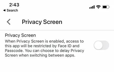 تأمين شاشة الخصوصية في Google Drive