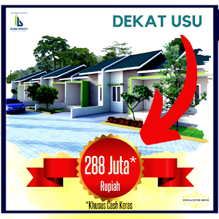 Jual Rumah harga perdana dan promo HANYA 288 Juta Di Jl. Bunga Ester Padang Bulan Medan | Bunga Ester House