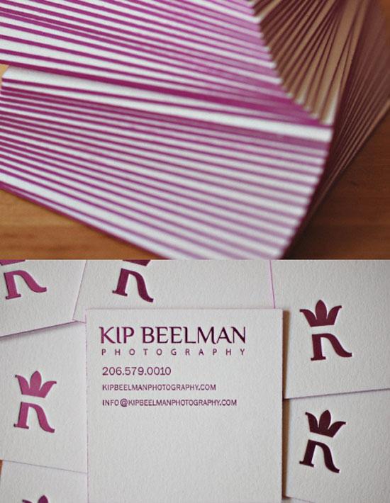 tarjetas de presentacion purpura